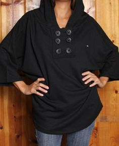 Adorable poncho hoodie from Arbor in an eco-friendly cotton/bamboo blend