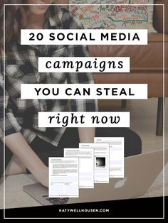 Free workbook from a social media strategist – take any of these 20 campaigns and make it work for your blog or business.