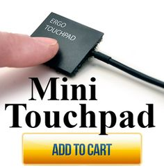 Touchpad can be used instead of traditional mouse - mount depending on person's ability to access, might be at finger or chin. Courage Kenny Rehabilitation Institute