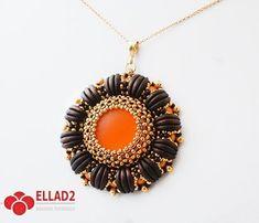 Beading Tutoria with Crescent beads Lulu Pendant-by-Ellad2