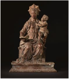 Master of the Unruly Children. VIRGIN AND CHILD -  terracotta, traces of gesso and polychromy -   first quarter 16th century. Italy, Florence