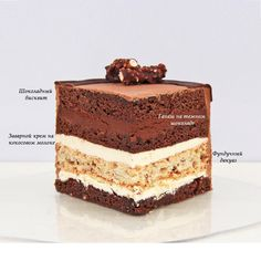 - Торты и десерты - Easy Cake Recipes, Sweets Recipes, Fun Desserts, Delicious Desserts, Mini Cakes, Cupcake Cakes, Inside Cake, Cake Flavors, Pastry Cake