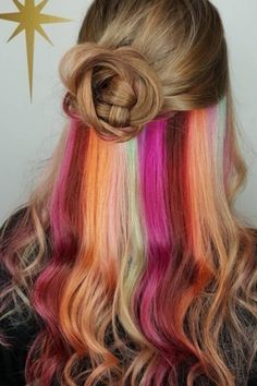 Hidden rainbows made their Instagram debut and people were obsessed. | 17 Hair Trends That Made 2016 Colorful AF