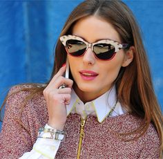 Reality TV star Olivia Palermo dials up her modern look with Tiffany's Atlas® bangles in New York City.   #Timeless Tiffany #From Out of the...