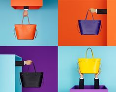 Pop goes the Neverfull! Louis Vuitton's iconic tote is now available in a beautiful rainbow of Epi leather colors. #inspired