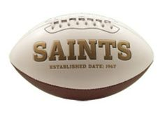 K2 New Orleans Saints Signature Series Football by K2. $24.99. Embroidered team logo on the frontTeam championship history listed on the back. 3 smooth white panels for ample autograph signing space Decorated in the team colors Officially licensed. Includes an autograph pen. Signature Series football. The classic NFL® Signature Series team football from K2® features a full color embroidered team logo prominently displayed on the front and team championship hist...