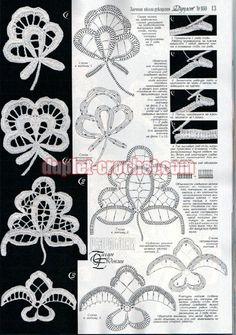 Crocheted motif no. Irish Crochet Patterns, Crochet Motifs, Freeform Crochet, Crochet Diagram, Crochet Art, Filet Crochet, Crochet Designs, Crochet Doilies, Crochet Flowers