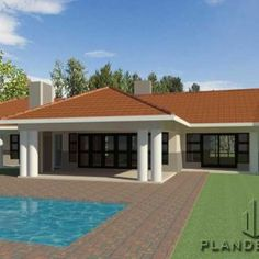 4 Bedroom Traditional House Plan for sale. Explore 4 bedroom house floor plans, 4 bedroom modern house plans with garages, country style home plans and House Plans For Sale, Family House Plans, Ranch House Plans, Dream House Plans, Japanese Modern House, Contemporary House Plans, Modern House Plans, Bungalow Floor Plans, Modern Bungalow House