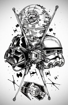 Star Wars tattoo. i always wish i could draw sth like this