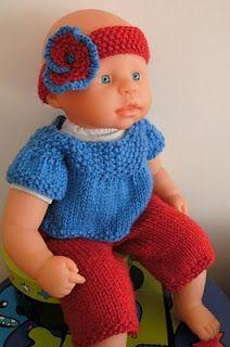 Ravelry: Baby Doll Set pattern by Selina Kyle Baby Romper Pattern Free, Baby Hat Knitting Patterns Free, Baby Sweater Knitting Pattern, Baby Clothes Patterns, Baby Patterns, Free Pattern, Knitting Ideas, Knit Patterns, Free Knitting