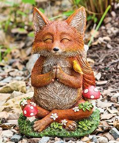 Take a look at this Zen Fox Statue today!