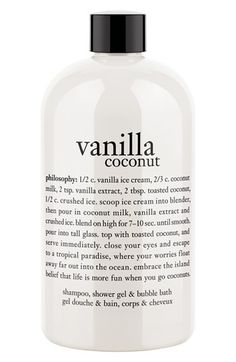 philosophy 'vanilla coconut' shampoo, shower gel and bubble bath | Nordstrom
