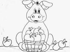 Resultado de imagem para riscos para pintura porquinha