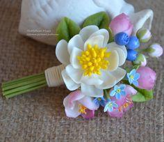 """Купить """"Летний полдень"""" бутоньерка - подарок, веночек в русском стиле, в деревенском стиле, бутоньерка с цветами"""