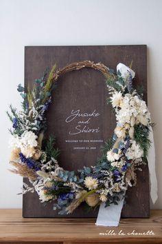 ナチュラルグリーン×ラベンダー リースブーケ付き ウッドウェルカムボード Welcome To Our Wedding, Grapevine Wreath, Grape Vines, Floral Wreath, Bouquet, Wreaths, Flowers, Handmade, Weddings