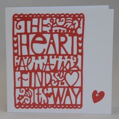 The Heart Always… Card
