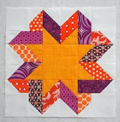 Tutoriales de Patchwork: BLOQUE RIBBON STAR