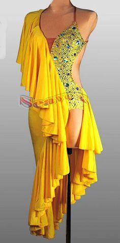 C3384 Lady Ballroom latin chacha salsa samba rumba dance competition dress US 10 #Seavex