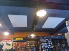 Panele grzewcze na podczerwień z serii Radius - ogrzewanie sklepu