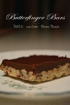 Low-Carb Butterfinger Bars
