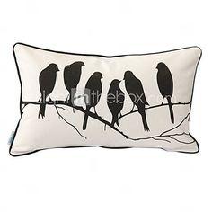 [EUR € 10.72] vogels 'whisper afdrukken decoratieve kussensloop