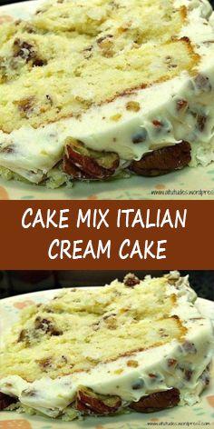 Easy Desserts, Delicious Desserts, Yummy Food, Italian Desserts, Cupcakes, Cupcake Cakes, Bundt Cakes, Cake Mix Recipes, Dessert Recipes