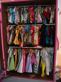 Doll Clothes Closet - How to make a closet for American Girl Dolls | Pinterest | Barbie clothes Storage ideas and Clever & Doll Clothes Closet - How to make a closet for American Girl Dolls ...