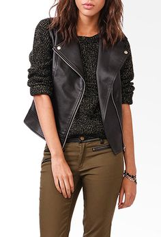 Faux Leather Moto Vest | FOREVER21 - 2027704945