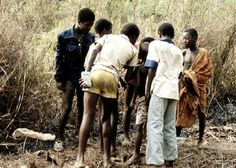 Straßenkinder in Bangui, Zentralafrikanische Republik