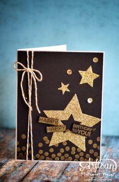 Dotty angles ; Amazing birthday ; Spellbinders Nest. Stars ; Masculine card ; Birthday