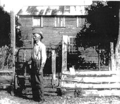 """Pasco County, Florida.  """"Alfred Hudson standing in front ofhis home in 1945, this historic house was razed in 2005. (Photos courtesy of Brenda Knowles and Florida Pioneer Museum)."""""""