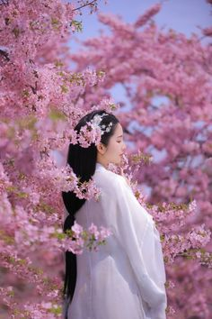 Asian Flowers, Hells Angels, Beautiful Anime Girl, Hanfu, World Cultures, Traditional Outfits, Asian Beauty, Cosplay, Flower Girl Dresses