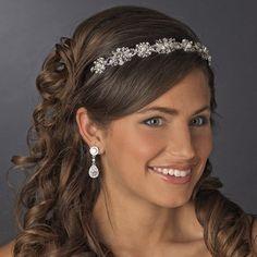 NWT Pearl and Crystal Vintage Look Bridal Wedding Headband Tiara