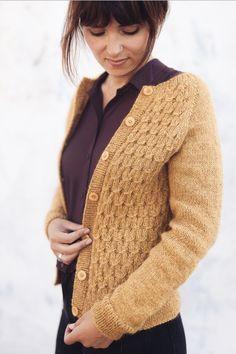Ravelry: Classic Smocking Cardigan pattern by PetiteKnit - DK weight Cardigan Design, Cardigan Pattern, Knit Cardigan, Knitting Designs, Knitting Patterns, Knit In The Round, Fair Isle Knitting, How To Purl Knit, Raglan
