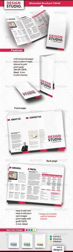 Minimalist Brochure Trifold by despotdesign