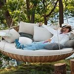 A perfect example of being seated in comfort with a good book or having a siesta