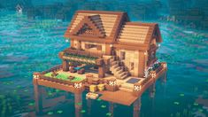 Minecraft Building Guide, Minecraft House Plans, Minecraft Mansion, Minecraft Cottage, Minecraft House Tutorials, Cute Minecraft Houses, Minecraft City, Minecraft House Designs, Minecraft Construction