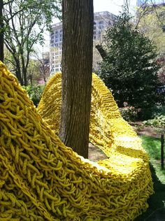 Orly Genger's Red, Yellow & Blue at Madison Square Park.