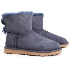 UGG Boots ($185) ❤ liked on Polyvore featuring shoes, boots, blue, blue shoes, blue boots, bow boots, bow shoes and ugg® australia shoes