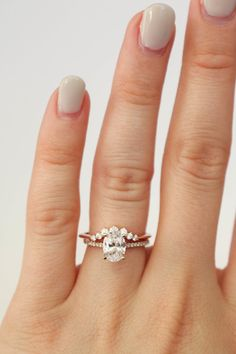 Adaline with diamond contour band || Olive Avenue Jewelry
