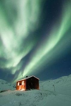 The Northern Lights, Sweden.