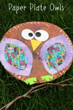 Paper Plate Owls - happy hooligans - fall crafts for kids
