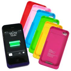1900mAh External Battery Case Backup Battery Charger Case Phone Cover For iPhone 4S 4 4G Battery Case Power Bank Pack | #PhoneCharger