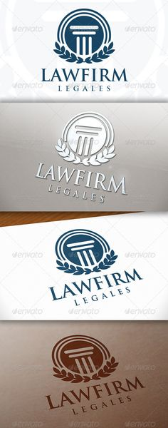 Law Firm Logo — Vector EPS #internet insurance #invest • Available here → https://graphicriver.net/item/law-firm-logo/7694700?ref=pxcr