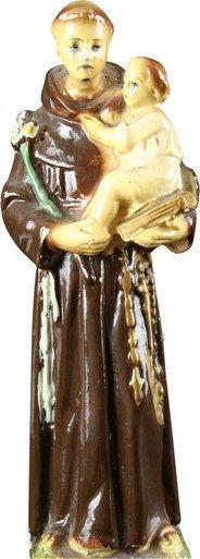 Vintage French Chalkware St Anthony of Padua Baby Jesus