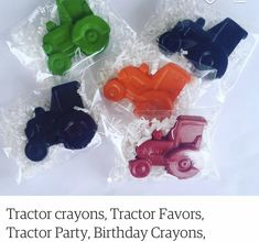 Unique Party Favors, Party Favor Bags, Tractor Birthday, 3rd Birthday, Farm Party, Craft Gifts, Tractors, Are You Happy, Make It Yourself