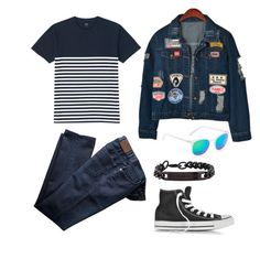 """""""Casual #1"""" by fachrur-roziq on Polyvore featuring Converse, Chicnova Fashion, Uniqlo, Aéropostale and Thomas Wylde"""