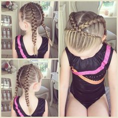 Prime Dutch Braid Gymnastics Hairstyles Gymnastics Hair N Stuff Short Hairstyles Gunalazisus
