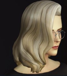 Rusty Nail: Long wavy clasic edit V3/F • Sims 4 Downloads