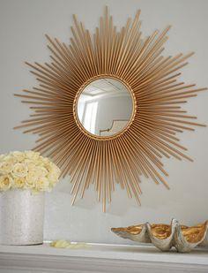 Gorgeous sunburst mirror